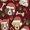 Santa Paws Maroon Buckle