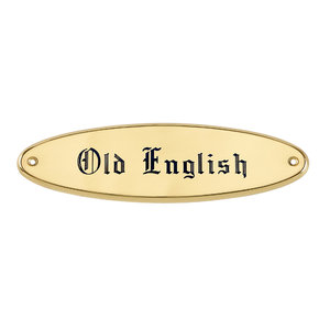 Brass Raised Oval Nameplate