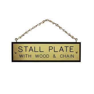 Walnut Plaque with Brass Chain
