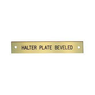 Beveled Edge Halter Nameplate - 1 or 2 lines