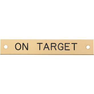Brass Halter Nameplate- 3 lines