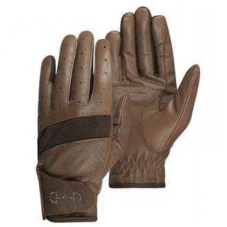 Horze Ladies' Leather Mesh Riding Gloves