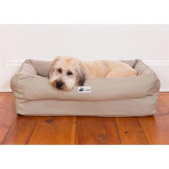 3 Dog Pet Supply EZ Wash Fleece Lounger Memory Foam Dog Bed