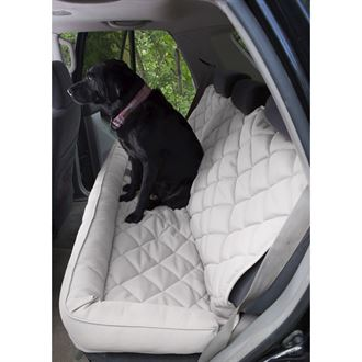 3 Dog Pet Supply No-Slip Quilted Back Seat Protector with Bolster