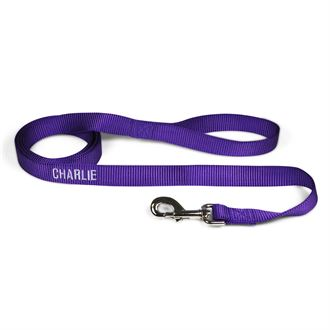 """3 Dog Pet Supply 1"""" Wide Personalized Dog Lead"""