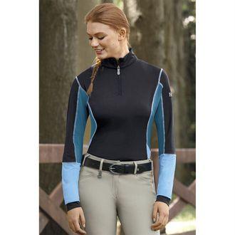 Kastel Denmark Ladies' Color Block Long Sleeve Quarter-Zip Shirt