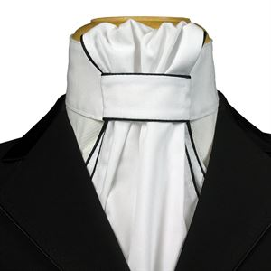 Equi-Logic Ruffled Stock Tie with Piping