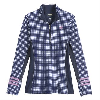 Arista® Ladies' 3-Bar Gingham Long Sleeve Shirt