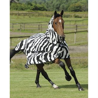 Bucas Buzz-Off Zebra Fly Sheet with High Neck
