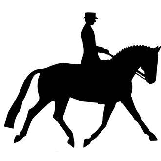 Dressage Rider Reflector Decal