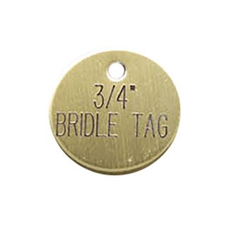 3/4'' Round Bridle & Accessory Tag