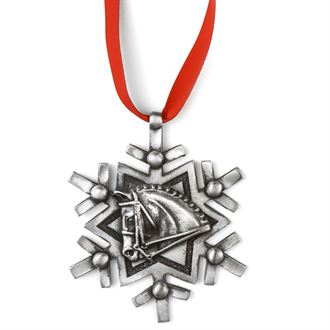 Loriece Linear Snowflake Dressage Horse Ornament