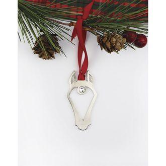Loriece Horsehead with Swarovski® Crystal Star Ornament