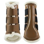 Horze Wilton Brushing Boots with Faux-Fur Lining