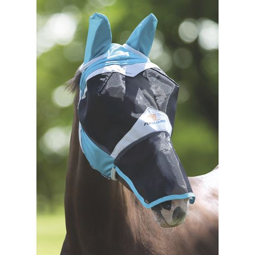 Shires Full Face Fly Mask (with Ears & Detachable Nose)