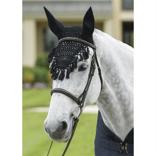 Rider's Internationalby Dover Saddlery® Crochet Fly Bonnet with Tassels