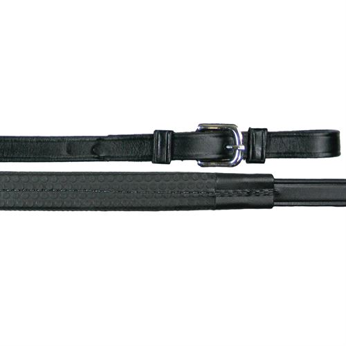Tory Leather Company Rubber Grip Leather Reins with Buckle Ends