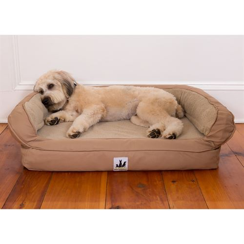 3 Dog Pet Supply EZ Wash Fleece Headrest Dog Bed