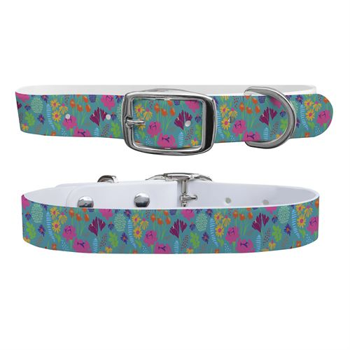 C4 Floral Small Dog Collar