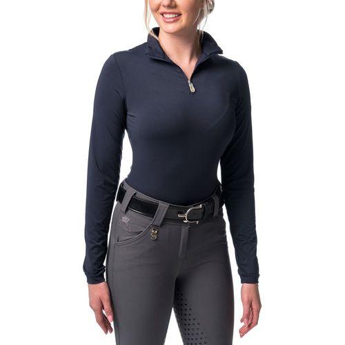 Kastel Charlotte Ladies' Quarter-Zip Base Layer Shirt