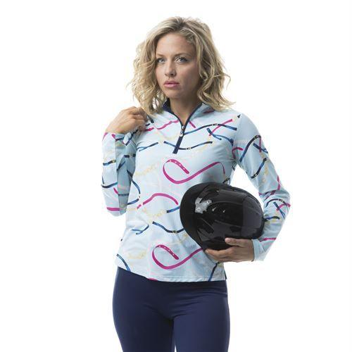 SanSoleil™ Ladies'SolTek ICE® Print Shirt