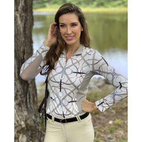 Arista® Ladies' Ribbons & Reins Long Sleeve Quarter-Zip Sun Shirt