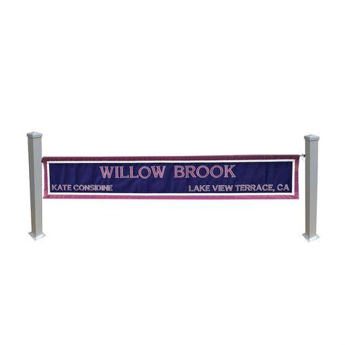 Aluminum Post Standards for Custom Name Banner