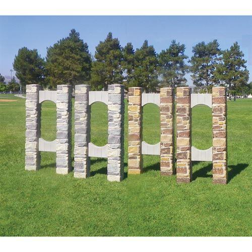 Burlingham Sports Stone Column Wing Standards