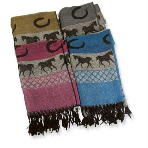 Pashmina/Silk Running Horses Scarf