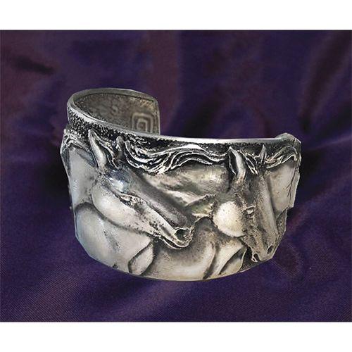 Four Horses Cuff Bracelet